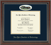 New York Institute of Technology Diploma Frame - Campus Cameo Diploma Frame in Chateau