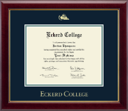 Eckerd College Diploma Frame - Gold Embossed Diploma Frame in Gallery