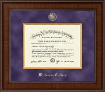 Williams College Diploma Frame - Presidential Masterpiece Diploma Frame in Madison