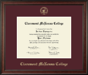 Claremont McKenna College Diploma Frame - Gold Embossed Diploma Frame in Studio