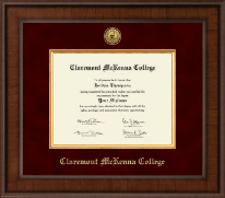 Claremont McKenna College Diploma Frame - Presidential Gold Engraved Diploma Frame in Madison