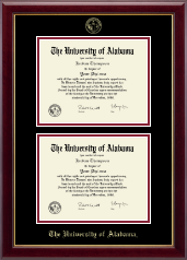 The University of Alabama Tuscaloosa Diploma Frame - Double Document Diploma Frame in Gallery