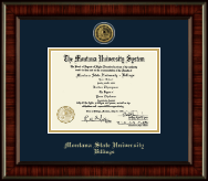 Montana State University Billings Diploma Frame - Gold Engraved Medallion Diploma Frame in Ridgewood