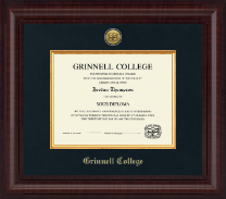 Grinnell College Diploma Frame - Presidential Gold Engraved Diploma Frame in Premier
