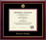Grinnell College Diploma Frame - Gold Engraved Medallion Diploma Frame in Gallery