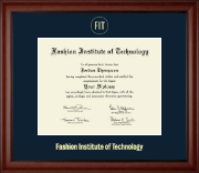 Fashion Institute of Technology Diploma Frame - Gold Embossed Diploma Frame in Cambridge