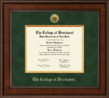 The College at Brockport Diploma Frame - Presidential Gold Engraved Diploma Frame in Madison