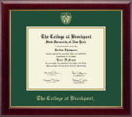 The College at Brockport Diploma Frame - Gold Embossed Diploma Frame in Gallery