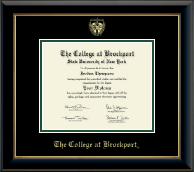 The College at Brockport Diploma Frame - Gold Embossed Diploma Frame in Onyx Gold