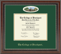 The College at Brockport Diploma Frame - Campus Cameo Diploma Frame in Chateau