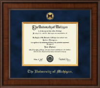 The University of Michigan Diploma Frame - Presidential Gold Engraved Diploma Frame in Madison