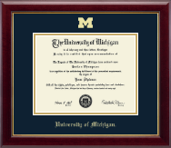 The University of Michigan Diploma Frame - Gold Embossed Diploma Frame in Gallery