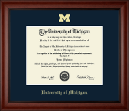 The University of Michigan Diploma Frame - Gold Embossed Diploma Frame in Cambridge