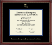 Louisiana Emergency Preparedness Association Certificate Frame - Gold Embossed Certificate Frame in Kensington Gold