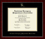 Louisiana Emergency Preparedness Association Certificate Frame - Gold Embossed Certificate Frame in Sutton