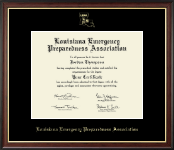 Louisiana Emergency Preparedness Association Certificate Frame - Gold Embossed Certificate Frame in Studio Gold
