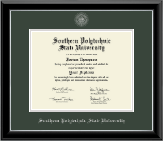 Southern Polytechnic State University Diploma Frame - Silver Embossed Diploma Frame in Onyx Silver