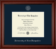 University of New Hampshire Diploma Frame - Silver Embossed Diploma Frame in Cambridge