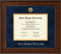 Siena Heights University Diploma Frame - Presidential Gold Engraved Diploma Frame in Madison