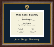 Siena Heights University Diploma Frame - Gold Engraved Medallion Diploma Frame in Hampshire