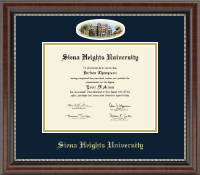 Siena Heights University Diploma Frame - Campus Cameo Diploma Frame in Chateau