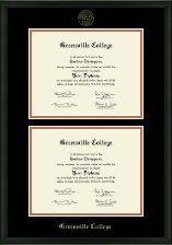 Greenville College Diploma Frame - Double Document Diploma Frame in Omega