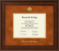 Greenville College Diploma Frame - Presidential Gold Engraved Diploma Frame in Madison