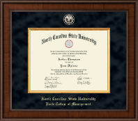 North Carolina State University Diploma Frame - Presidential Black Enamel Masterpiece Diploma Frame in Madison