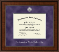 Northwestern State University Diploma Frame - Presidential Silver Engraved Diploma Frame in Madison