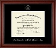 Northwestern State University Diploma Frame - Silver Embossed Diploma Frame in Cambridge