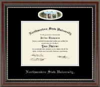 Northwestern State University Diploma Frame - Campus Cameo Diploma Frame in Chateau