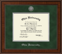 Ohio University Athens Diploma Frame - Presidential Silver Engraved Diploma Frame in Madison