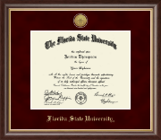 Florida State University Diploma Frame - Gold Engraved Medallion Diploma Frame in Hampshire