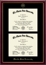 Florida State University Diploma Frame - Double Document Diploma Frame in Gallery