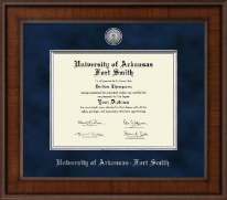 University of Arkansas - Fort Smith Diploma Frame - Presidential Silver Engraved Diploma Frame in Madison