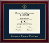 University of Arkansas - Fort Smith Diploma Frame - Gold Embossed Diploma Frame in Gallery