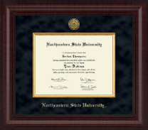 Northeastern State University Tahlequah Diploma Frame - Presidential Gold Engraved Diploma Frame in Premier