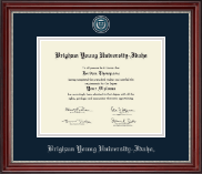 Brigham Young University Idaho Diploma Frame - Pewter Masterpiece Medallion Diploma Frame in Kensington Silver