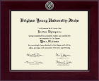 Brigham Young University Idaho Diploma Frame - Century Silver Engraved Diploma Frame in Cordova