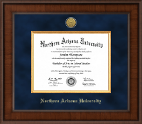 Northern Arizona University Diploma Frame - Presidential Gold Engraved Diploma Frame in Madison