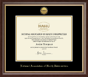 National Association of Health Underwriters Certificate Frame - Gold Engraved Medallion Certificate Frame in Hampshire