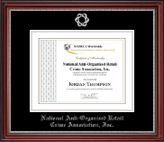 National Anti-Organized Retail Crime Association, Inc. Certificate Frame - Silver Embossed Certificate Frame in Kensington Silver