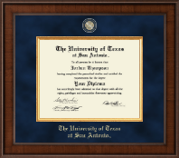 The University of Texas San Antonio Diploma Frame - Presidential Masterpiece Diploma Frame in Madison