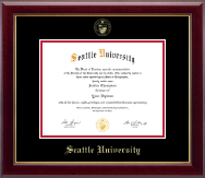 Seattle University Diploma Frame - Gold Embossed Diploma Frame in Gallery