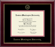 Eastern Washington University Diploma Frame - Gold Embossed Diploma Frame in Gallery