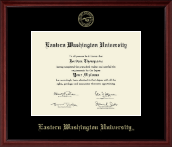 Eastern Washington University Diploma Frame - Gold Embossed Diploma Frame in Camby