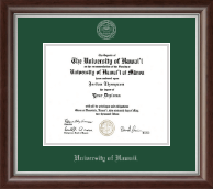 University of Hawaii at Manoa Diploma Frame - Silver Embossed Diploma Frame in Devonshire