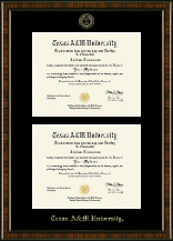 Texas A&M University Diploma Frame - Double Diploma Frame in Brentwood