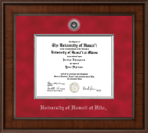 University of Hawaii at Hilo Diploma Frame - Presidential Silver Engraved Diploma Frame in Madison