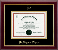 Pi Sigma Alpha Certificate Frame - Gold Embossed Certificate Frame in Gallery